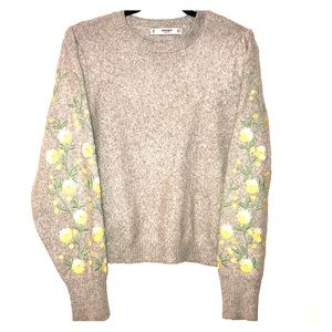 Embroidered wool sweater